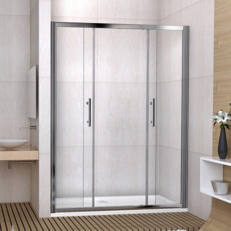 Double Sliding Shower Door 1600