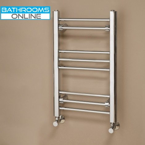 650 x 400 mm Straight Chrome Heated Towel Rail