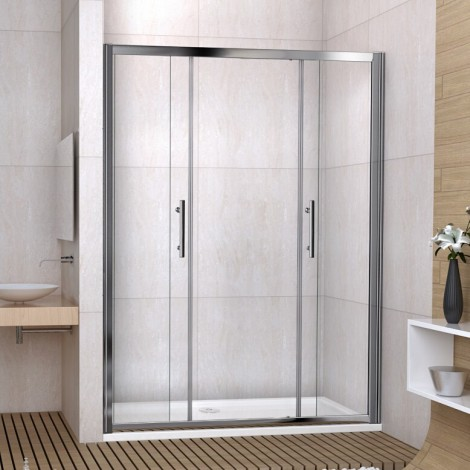 Double Sliding Shower Door 1400
