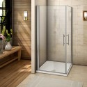 Corner Entry Saloon Shower Doors
