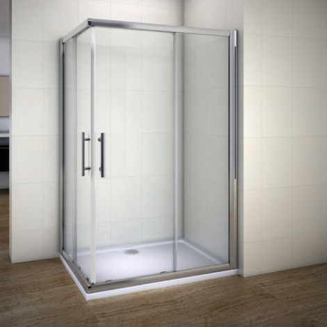 Offset Corner Entry Shower Door
